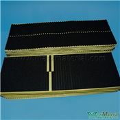 black with flat rounded end sponge foam