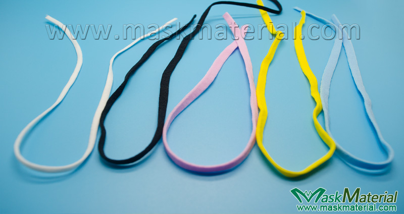 Flat Elastic Band for ear loops in various colors